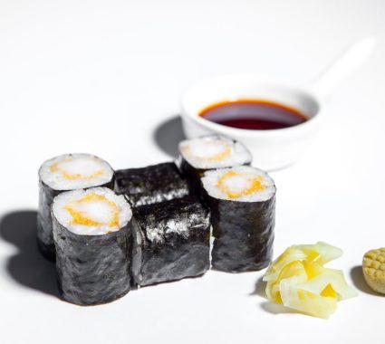 maki cu crevete tempura