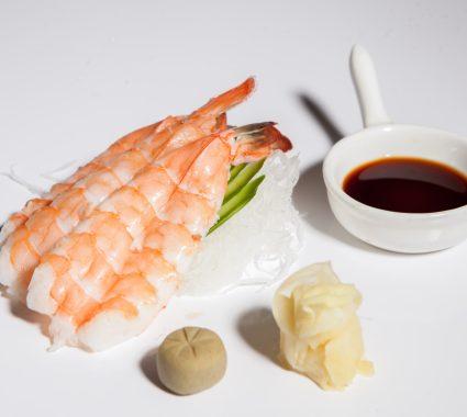 sashimi de crevete